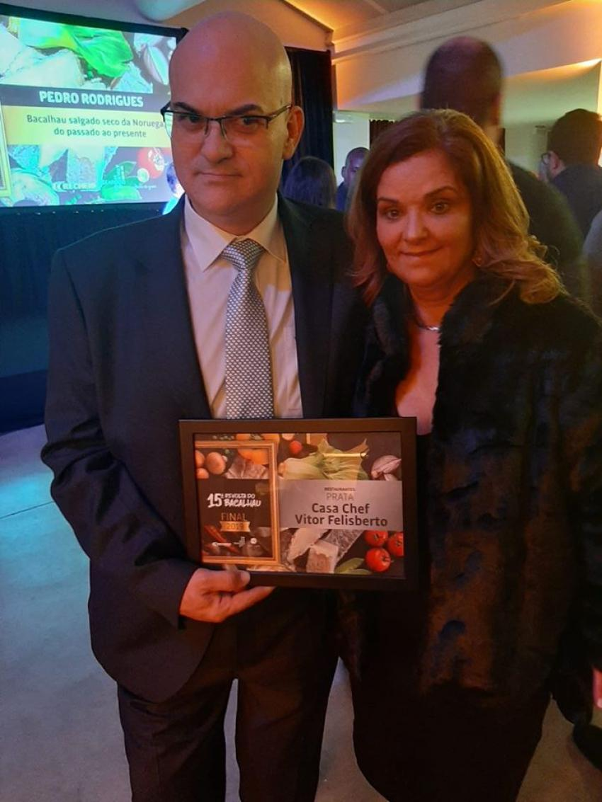 "Chef Victor Felisberto conquista diploma de prata na ""Revolta do Bacalhau"""